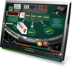 bet365 casino caribbean poker table